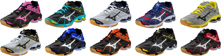 Mizuno Volleyball Shoes Black And Orange